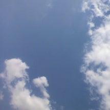 青空、白い雲