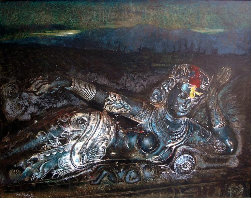 渡辺元司の絵画作品-クリシナの母