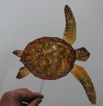 亀の子これくしょん-ウミガメ工作  ストロー