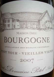 個人的ワインのブログ-Bourgogne VV Domaine Potel 2007 _001