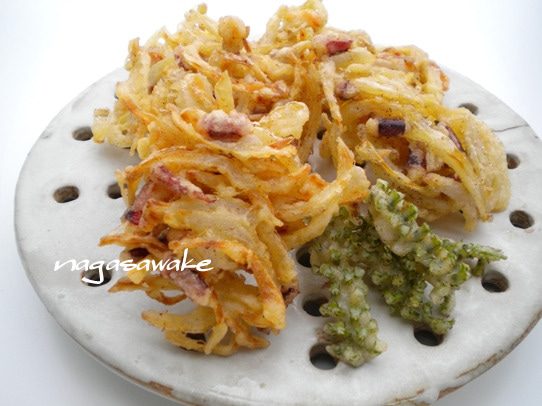 キヨミのガーデニングブログ-かき揚げのレシピ