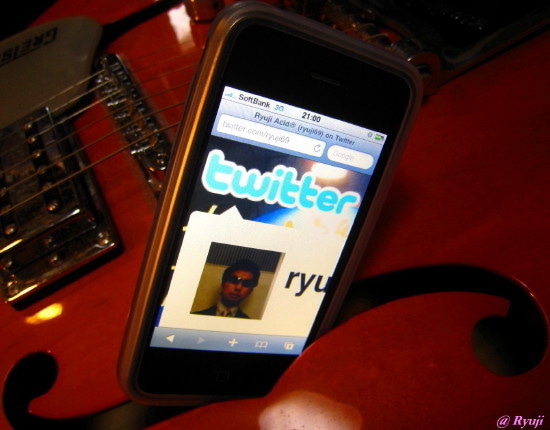 ∞最前線 通信-Twitter iPhone of Ryuji