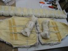 大木毛皮店工場長の毛皮修理リフォーム-フォックスコート バッグ