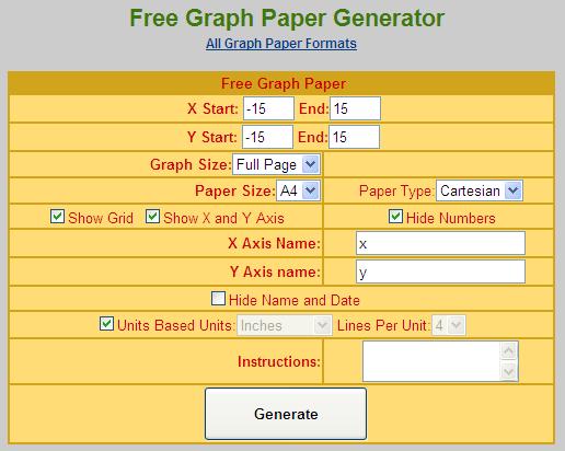 数楽者のボヤキ・ツブヤキ・ササヤキ-中学 数学 道徳 Mathematics Puzzles--グラフ用紙設定画面