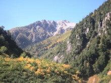 関西蛍雪山岳会のページ-旧黒五の河原から望む薬師岳