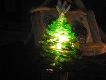 シーボーンアート・おきなわのブログ-シーグラスのクリスマスツリー