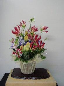 よんよんとお花-玄関の花091109