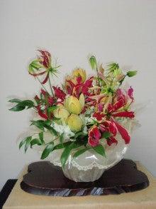 よんよんとお花-受付の花091109