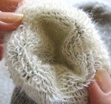 アンゴラヤギの靴下-ソックス内側起毛