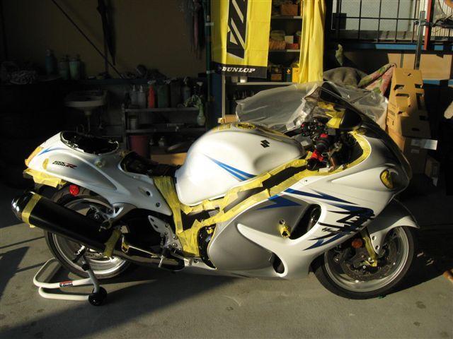 女職人が書く京都の板金屋さんのブログ☆★-ハヤブサ バイク