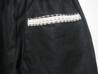 お気楽なワタシの日常-黒のパンツ(ポケット部分)