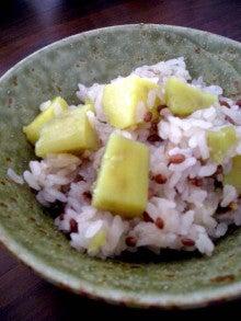ファーム木精レシピ集-赤米入り芋おこわ