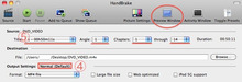 $MacやらiPhoneブログ-HandBrake Setting