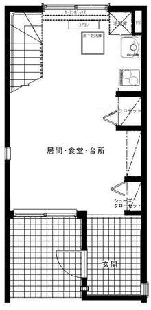$メゾネット桜台-1階間取り図