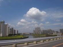 続 東京百景(BETA version)-#095 区界の隅田川と雲(2009.07.30)