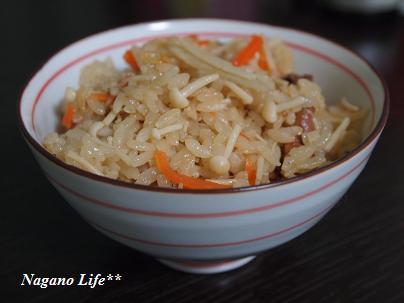 Nagano Life**-えのきの炊き込みごはん