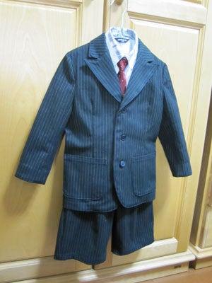 のほほん日記 in 大阪-ピークトラペルのスーツ完成