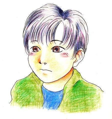 はんだのイラスト置場 ~3頭身-8頭身まで! 子育て絵師のおえかき館~-ハナタレ小僧