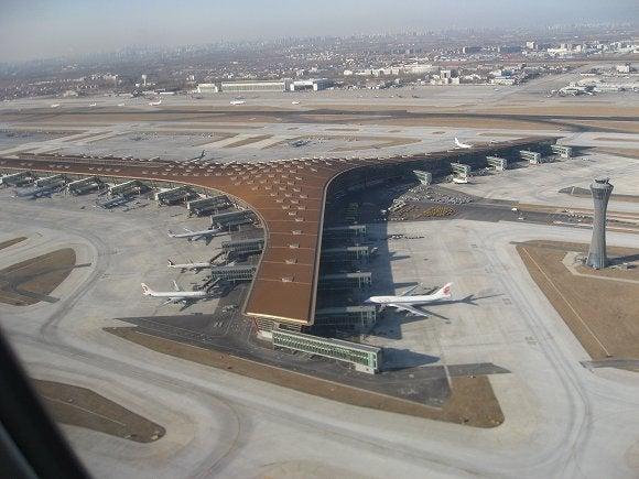 世界遺産旅日記-北京空港上空