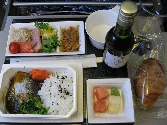 世界遺産旅日記-全日空NH956便機内食
