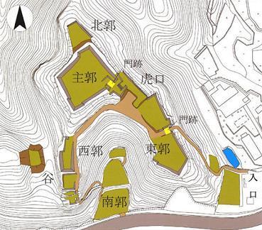赤木城 縄張り に対する画像結果