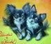 ファンタジー絵描きEricoの動物肖像画館-チワワ2頭