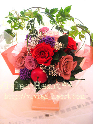 Vivien Heart** ~ヴィヴィアンハート~-ピンク&レッド