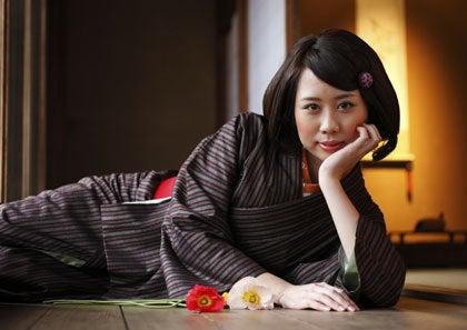 二代目徳三郎のアンティーク着物スタイリング