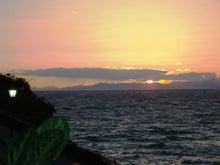 老人とブログの海-夕日