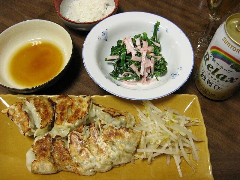宅ひとりごはん-3/30 晩 餃子