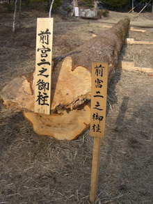 東京でプチスローライフ-前宮の柱