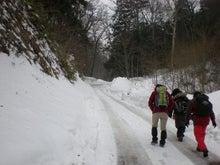夫婦世界旅行-妻編-雪道の行進