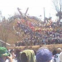 御柱祭りの写真