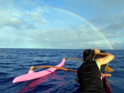 $楽園ハワイ通信 by Lani Tours-虹へパドリング