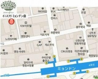 韓国化粧品・韓国コスメ・韓国美容の情報発信サイト 美コリア(mi-korea)のブログ-イニスフリ 地図