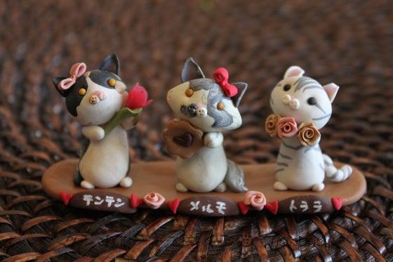 クレイアートでつくる猫 nekonoのブログ-3匹の猫
