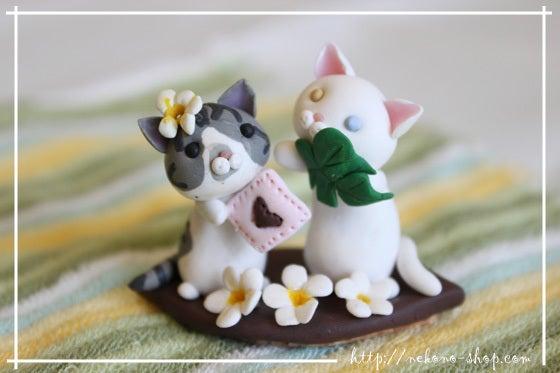 クレイアートでつくる猫 nekonoのブログ-ハワイアン猫