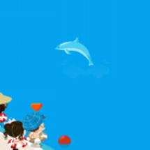 沖縄でイルカを見学