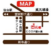 仙台宮城野区美容室mileのスタッフブログ-Mile アメブロサイドバー地図