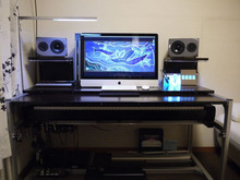 $DTM机 ◆ 自作のススメ-DTM机_front_desk