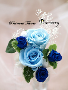 Plumerry(プルメリー)プリザーブドフラワースクール (千葉・浦安校)-ブートニア ブルー ウエディング