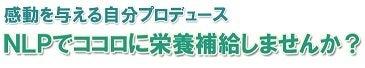 ★使えるNLP 使えないNLP 前田忠志オフィシャルブログ-感動を与える自分プロデュース