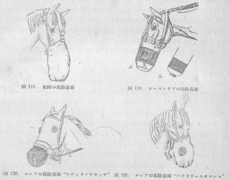 帝國ノ犬達-馬用ガスマスク各種