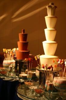カフェドエルのブログ-チョコレートファウンテン