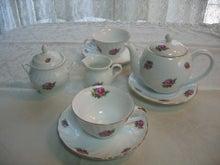 ハーブとバラの陶器-聖家族・食器