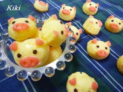 Kikiのキャラ弁1年生-子ブタケーキ