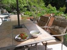 ローフード&マクロビオティックで美味しい生活♪-庭でランチ.jpg