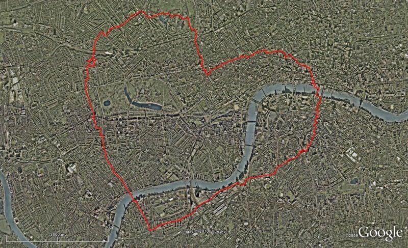 やっさんのGPS絵画プロジェクト -Yassan's GPS Drawing Project--GPS100611London