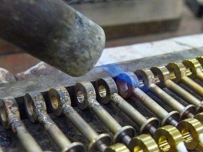 METAL  HOUSE   - about  metal fittings --真鍮製手作りケリーバーキン金具作成風景