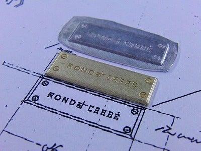 METAL  HOUSE   - about  metal fittings --真鍮製手作りオリジナルネームプレート金具作成風景